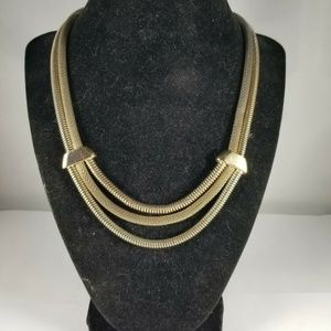 Anne Klein Multi Strand Mesh Mixed Metal Necklace